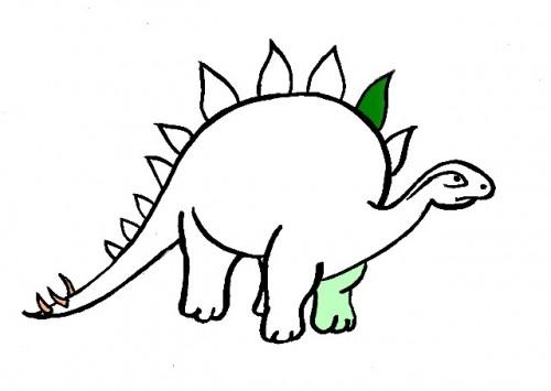 Disegni Da Colorare Colora Un Dinosauro Mondo Fantastico