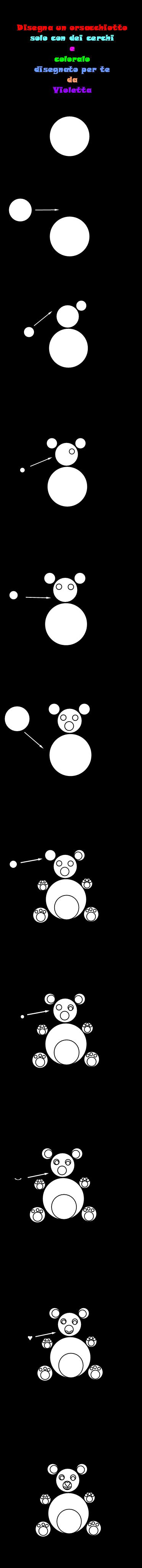 Disegna un orsacchiotto - Orsacchiotto da colorare in ...