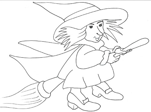 Old Befana Coloring Pages