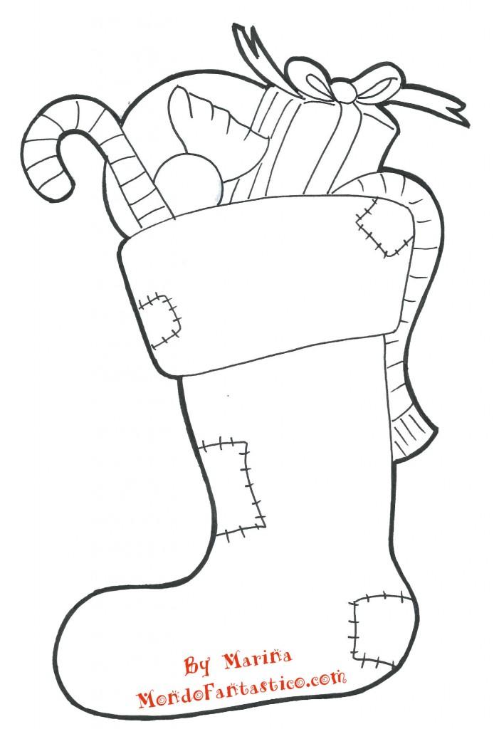 disegni da colorare calza della befana