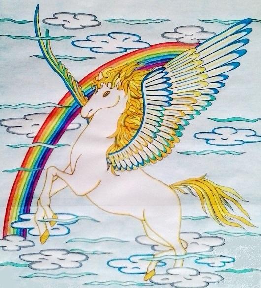 Pegaso Cavallo Alato Disegno.Pegaso Il Cavallo Alato Mondofantastico Com