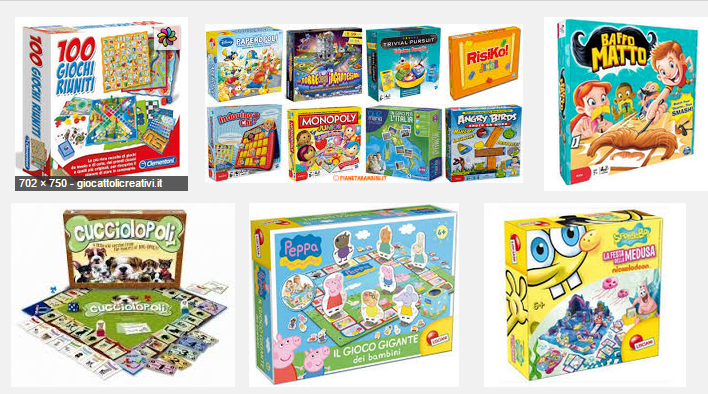 Giochi da tavolo, giochi di società, giochi in scatola