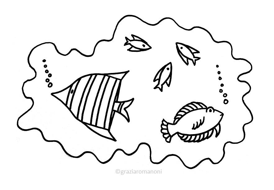 Pesci da colorare d 39 acqua salata e dolce for Disegni di pesci da stampare