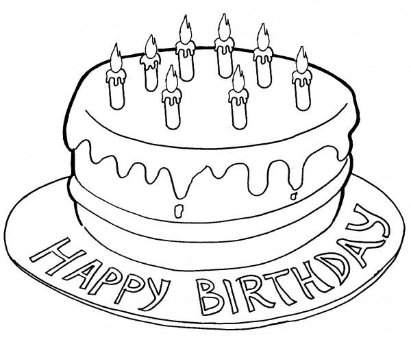 Torta Di Compleanno Per Bambini Disegni Da Stampare