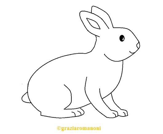 Disegni da colorare animali il coniglio for Coniglio disegno per bambini