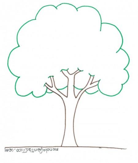 Piante da disegnare e colorare for Chioma albero