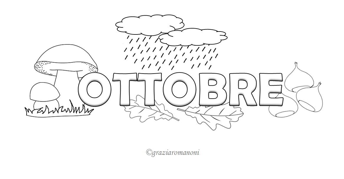 Preferenza Calendario per bambino, colora ottobre - MondoFantastico.com FH29